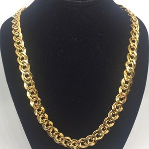 Vintage Napier Gold Tone Double Chain Necklace 24""